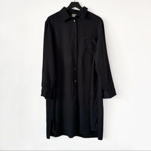ASOS | Black Button Down Long Sleeve Dress 18